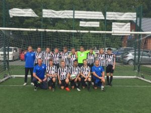 The Allexton and New Parks Under 16 Football Team in their new LG sponsored kit